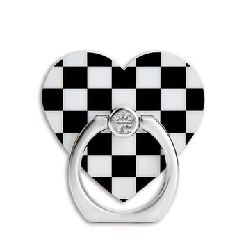Black Checkered Grip Ring