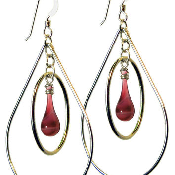 Candycane Pear Earrings