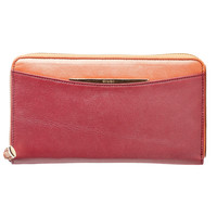 Salina-Zip Clutch Wallet-Raspberry