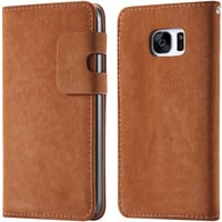 For Samsung Galaxy S7 G9300 Squirrel Pattern PU Leather Elegant Cover For Samsung S7 Full Protect Flip Phone Case With Card Slot