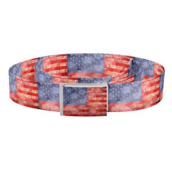 Worn American Flag With Bokeh Lights Belt