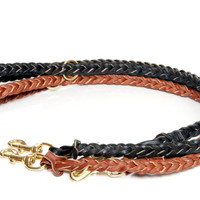 Fully Braided Service Dog / Guide Dog Style Leash