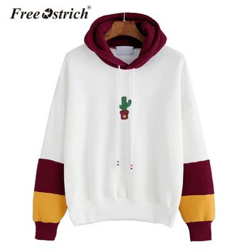 Free Ostrich Blouse Hoodies Sweatshirt Long Sleeve Striped Sudadera Mujer Jumper Women Tumblr Pullover Hooded Dropshipping De13