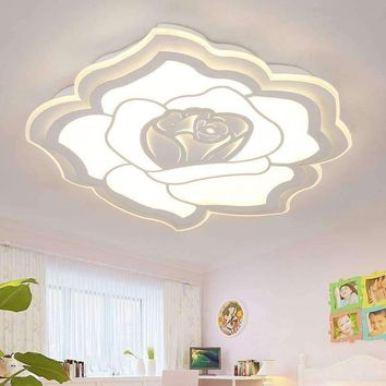 Minimalist Modern LED Chandelier Light Fixture Rose Ceiling for Living room Bedroom LED Lamparas de techo home decor Lighting