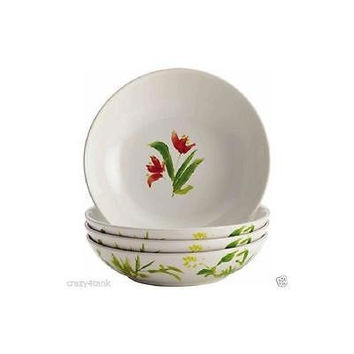 Bonjour Dinnerware Meadow Rooster Stoneware 4-Piece Fruit Bowl Set