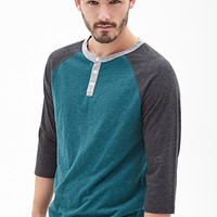 Colorblocked Henley