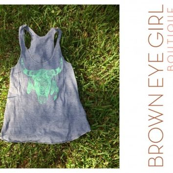 Judith March 'Steer Head' Tank | Brown Eye Girl Boutique