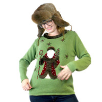 """Santa Wears A Fur Coat"" Ugly Christmas Sweater - The Ugly Sweater Shop"