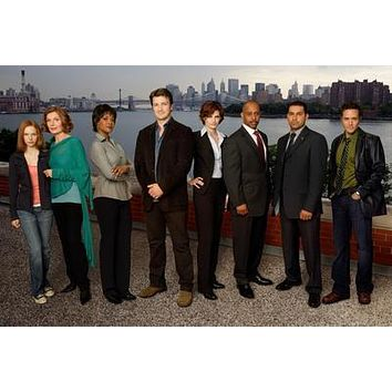 Castle Cast New York Skyline poster Metal Sign Wall Art 8in x 12in