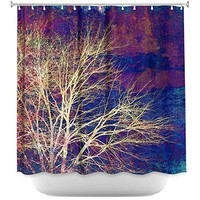 DiaNoche Designs Shower Curtains Stylish, Decorative, Unique, Cool, Fun, Funky Bathroom by Sylvia Cook - Strange Days