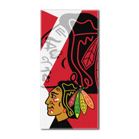 Chicago Blackhawks NHL ?Puzzle? Over-sized Beach Towel (34in x 72in)