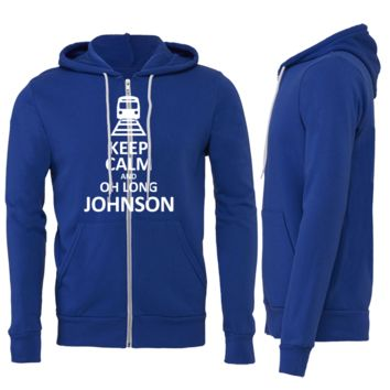 KEEP CALM AND OH LONG JOHNSON ZIPPER HOODIE
