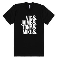 PIERCE THE VEIL - Band Names-Unisex Black T-Shirt