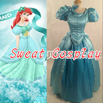 2016 halloween costumes for women adult princess dress the little mermaid princess Ariel Cosplay Costume
