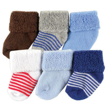 Luvable Friends Newborn Baby Socks 6 Pack | Affordable Infant Clothing