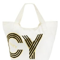 Oversized Juicy Canvas Tote Bag by Juicy Couture