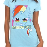 My Little Pony Rainbow Dash Face Girls T-Shirt Size : Medium