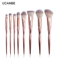 UCANBE Brand 8pcs Luxury Rose Gold Metal Makeup Brushes Set Grasp Cosmetic Professional Eyeshadow Contour Make up Brush Pinceis-in Makeup Brushes & Tools from Beauty & Health on Aliexpress.com | Alibaba Group