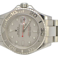 Rolex yacht master stainless steel watch lady women yachtmaster