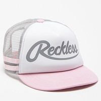 Young & Reckless Big R Script Trucker Hat - Womens Hat - Pink - One