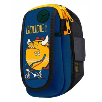 Waterproof Outdoor Sports Armband Cellphone Bag-Yellow Monster Printing
