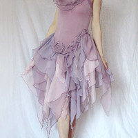 Halloween Prom Homecoming Costume Fairy Goldfish Dress Bridal Bridal Bridesmaid Light Purple Dusty Pink Wedding Dancing Party Event (S-M)