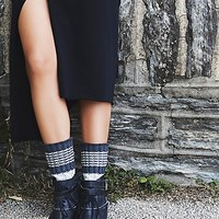 Free People Womens Scandinavia Crew Sock