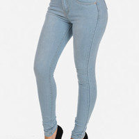 Cheap Trendy Light Denim High Waist Jeans in Jeans