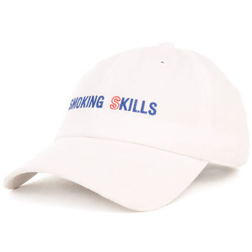 The Smoking Skills Strapback in White