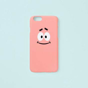 iPhone 6s+ case - Patrick Star Smile Face - iPhone 5s, iPhone 6s case, iPhone 6+ case, Good Luck Gold Sticker, non-glossy hard shell L33