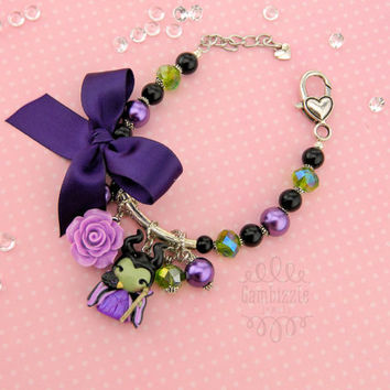 Maleficent bracelet, Maleficent jewelry, sleeping beauty bracelet, villain bracelet, disney villains, good vs. evil