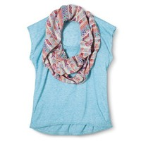 Junior's Tee with Scarf - Assorted Colors