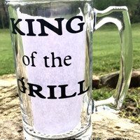 Fathers Day Gift, Kind of the Gril, Gift for Dad, Fathers Birthday Gift, Personalized Beer Mug