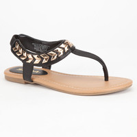 Soda Cooper Girls Sandals Black  In Sizes