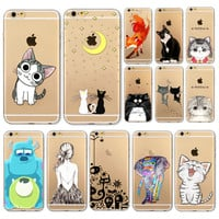 For iphone 4 4S 5 5S 5C SE 6S 6 6SPlus Mobile Phone Case Soft TPU Beautiful Animal Peacock Phone Case Cover Housing For iPhone