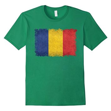 Chad Flag T-Shirt in Vintage Retro Style