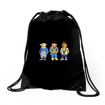 polo bear Drawstring Bags