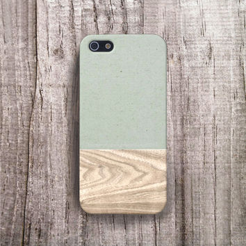 IPhone 6 Case Wood Print Cover Iphone 5 Color Block Pastel Gr