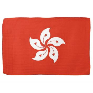 Kitchen towel with Flag of Hong Kong, China