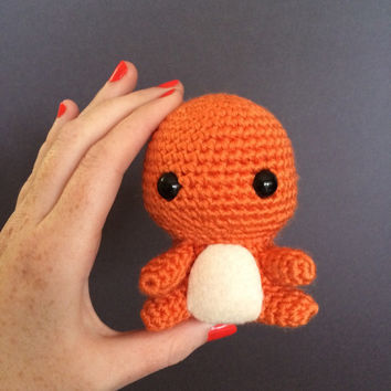 Charmander Pokemon Plush Amigurumi Crochet Doll