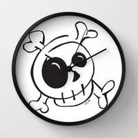 Skull v.1 Wall Clock by Even In Death