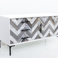Modern Reclaimed wood Small Credenza in White | Modshop