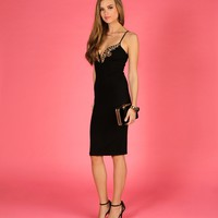 Promo-black Sultry Gem Midi Dress