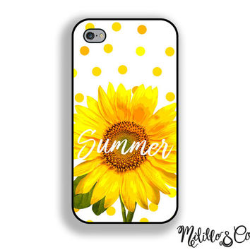 Summer Sunflower Quote Phone Case for Apple iPhone 5, 5c, 6 and 6 plus and Samsung Galaxy s5, s6 & Phone Stand