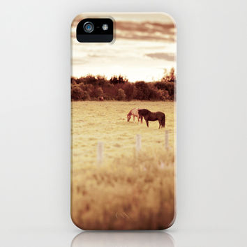 Horses iPhone & iPod Case by gabyjalbert