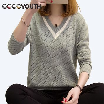 Gogoyouth Plus Size Women Sweaters Winter 2018 Autumn Long Sleeve Knitted Sweater And Pullover Female Tricot Jumper Pull Femme
