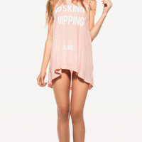 NO SKINNY DIPPING MUSCLE TANK at Wildfox Couture in  TEEN DREAM, - CLEAN BLACK
