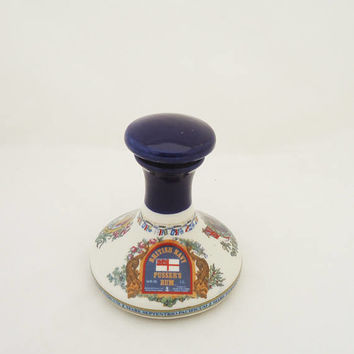 Vintage  British Navy Pussers's Rum Bottle/Decanter, Rum Bottle With Stopper, Collectable