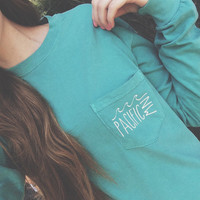 PNW Vintage long-sleeve Pocket Tee