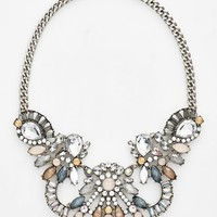 Women's Tildon Crystal & Stone Statement Necklace - Silver Multi